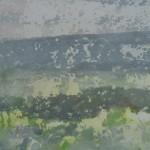 Amuigh San Uaigneas, Tearmainn Beag Iata, Áras Éanna, Inis Oirr, oil on canvas, 2008