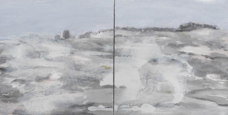 Cúl an Tí, Tearmainn Beag Iata, Áras Éanna, Inis Oirr, oil on canvas, 2008