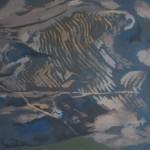 Early Morning Glencorbett, Footprint, Tramyard Gallery, oil on canvas, 2008