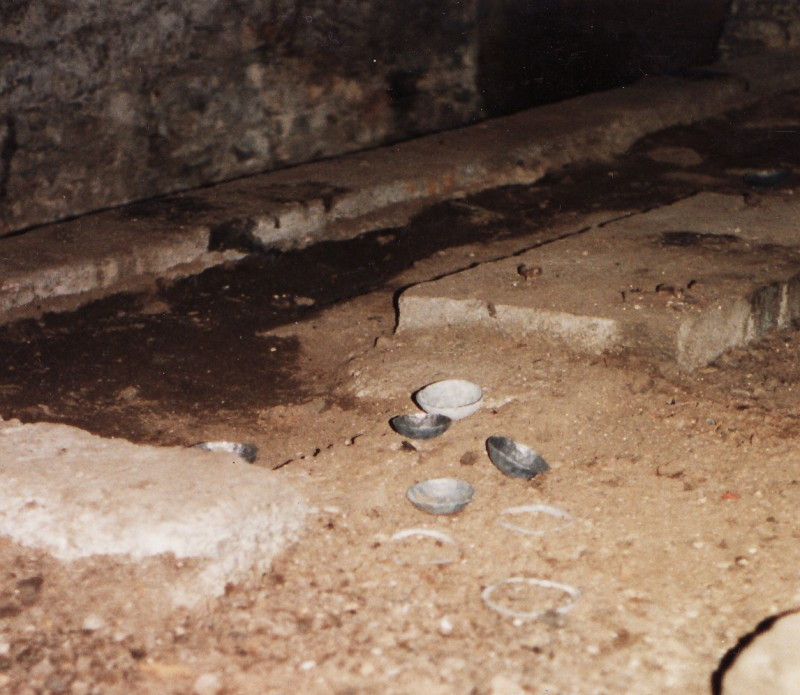 Excavated Space, Skibbereen Sculpture Symposium, beaten lead bowls, 1995