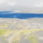 Oileán agus Oileán eile, Tearmainn Beag Iata, Áras Éanna, Inis Oirr, oil on canvas, 2008