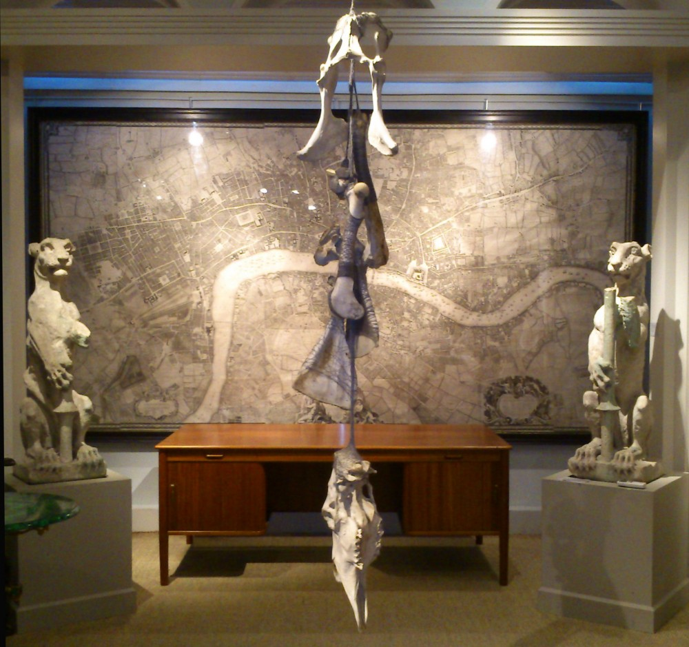 Orpheus Gathered, Now & Then, Harris Lindsay, London, sculpture installation using elk bones and sound file, 2012