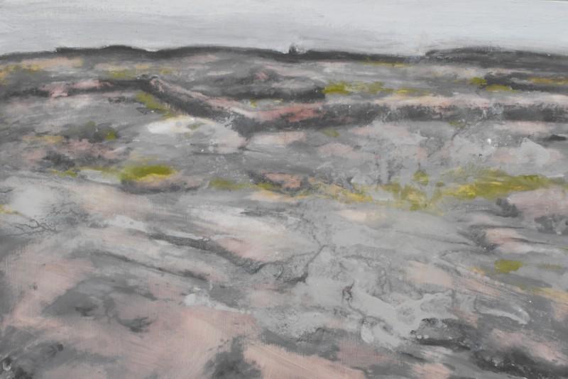Scalprachaí, Tearmainn Beag Iata, Áras Éanna, Inis Oirr, oil on canvas, 2008
