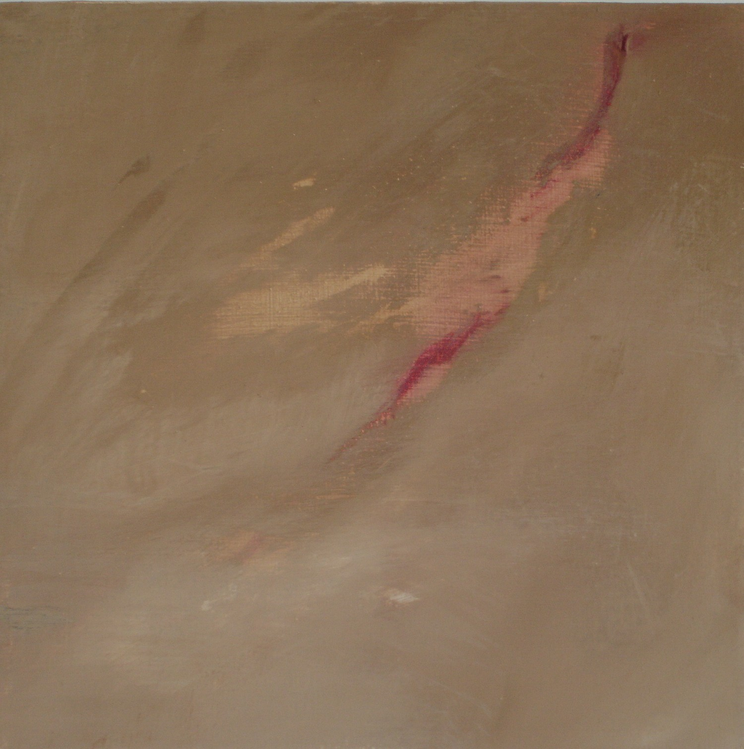 Scar, Footprint, Tramyard Gallery, oil on canvas, 2008