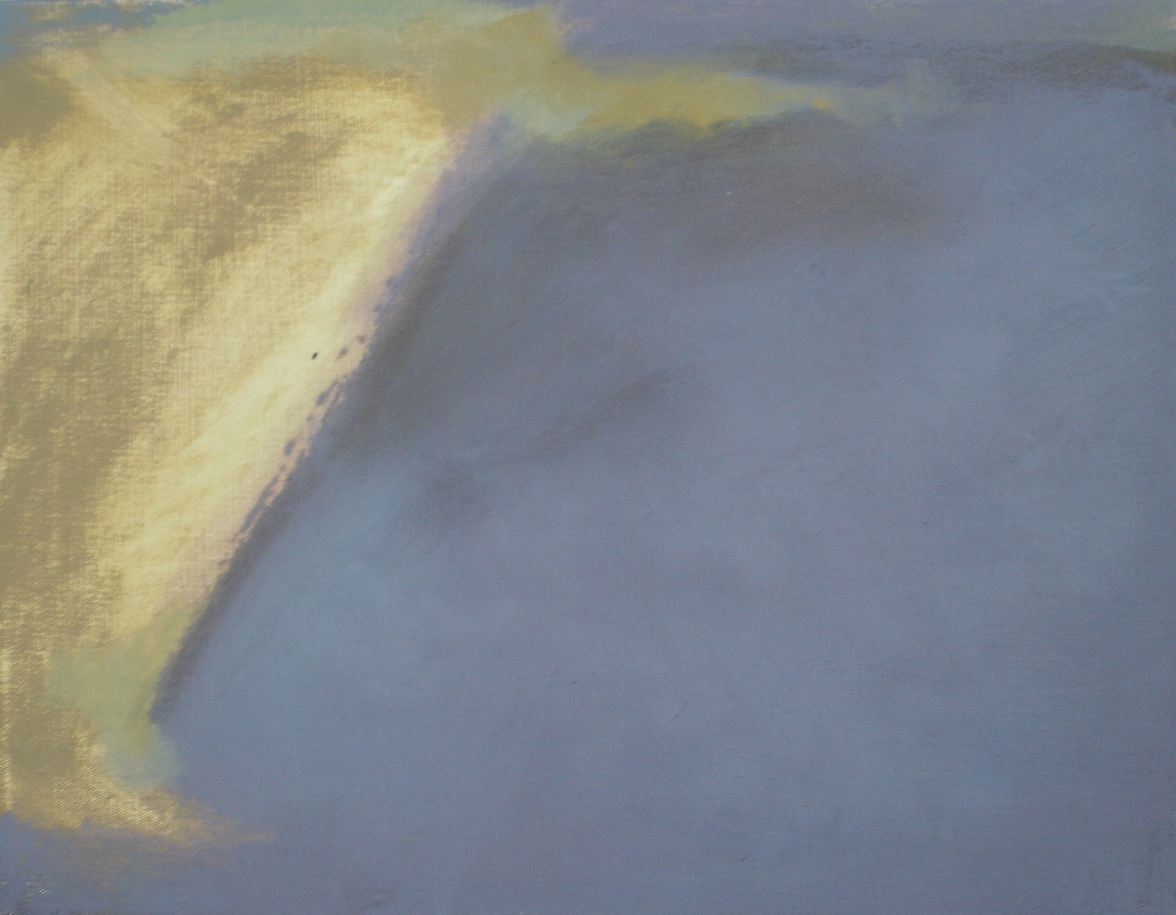 The Line Which Divides, Footprint, Tramyard Gallery, oil on canvas, 2008