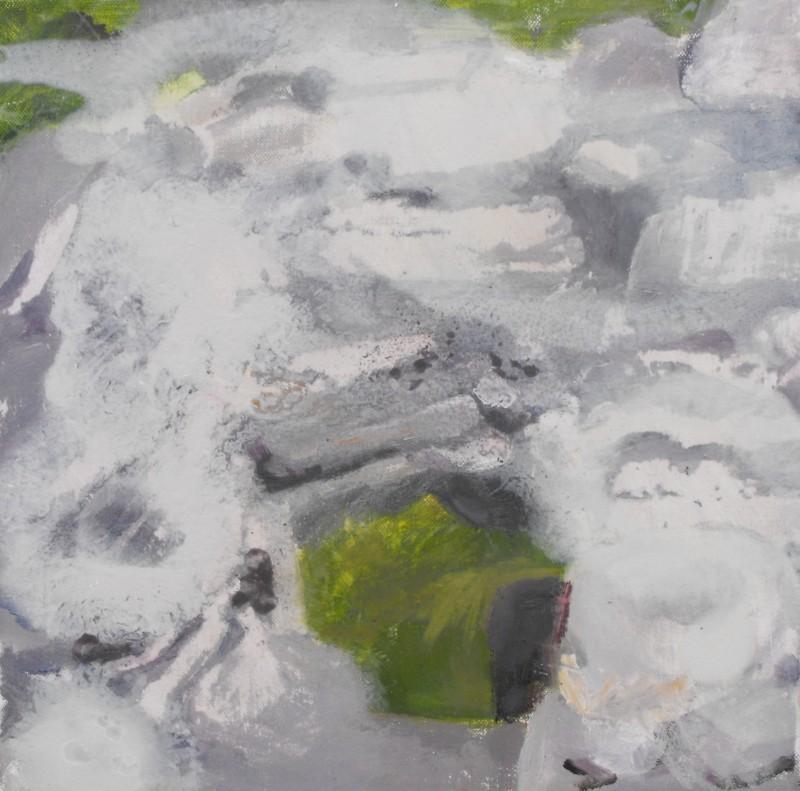 Tobar Éanna, Tearmainn Beag Iata, Áras Éanna, Inis Oirr, oil on canvas, 2008