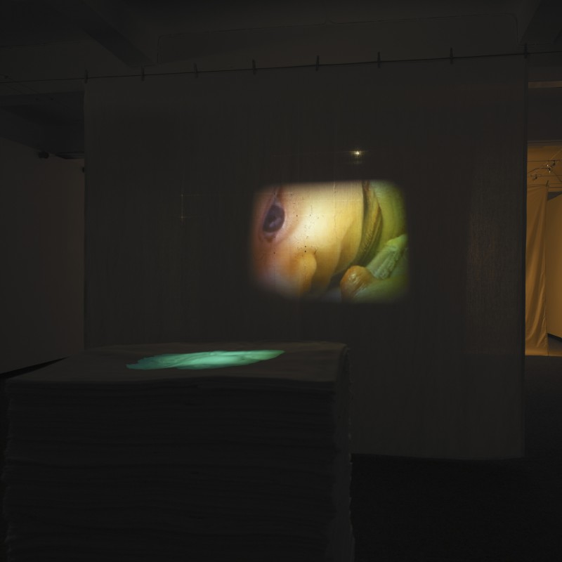 Between the Sheets, Tulca Visual Arts Festival, installation with video loop, 2005