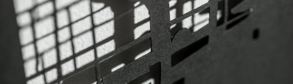 Simhallen(detail), shadow work in paper, Förort, Tyresö Konsthall, 2014, Photo: Niklas Alexandersson